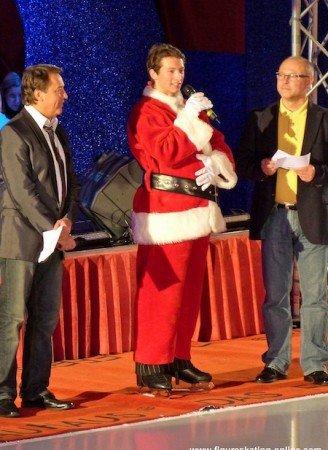 Philipp Tischendorf als Weihnachtsmann